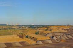 褐煤开采 免版税库存照片