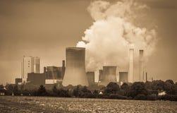 褐煤能源厂 库存照片
