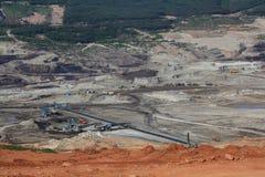 褐煤采矿 库存照片