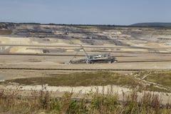 褐煤-露天矿因登 库存照片