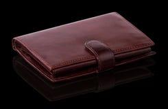褐红的棕色钱包 免版税库存照片