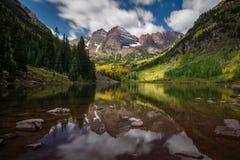 褐红的湖-科罗拉多 图库摄影