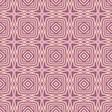褐红的n浅粉红色的被环绕的正方形设计无缝的样式背景例证 向量例证