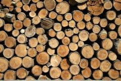褐色剪切木头 免版税库存图片
