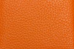 褐色接近的皮革纹理 免版税库存图片
