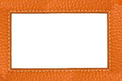 褐色接近的皮革纹理 库存照片