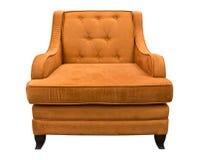 褐色查出的沙发 库存图片