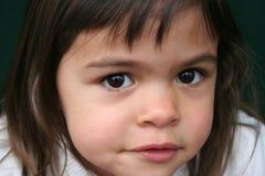 褐色注视女孩一点 图库摄影
