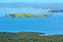 褐色海岛新西兰风景视图  图库摄影