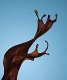 褐色热的咖啡或巧克力飞溅  免版税库存图片