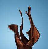 褐色热的咖啡或巧克力飞溅  图库摄影