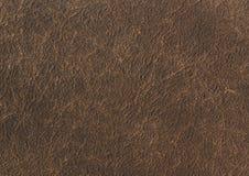 黑褐色皮革纹理背景 关闭古老皮革纹理 皮革纹理褐色背景样式 库存图片