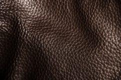 黑褐色皮革纹理 库存照片