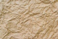 褐色被弄皱的纸张 库存照片