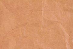 褐色被弄皱的纸张 免版税图库摄影