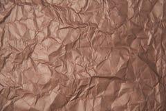 褐色被弄皱的纸纹理 免版税图库摄影