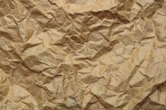 褐色被弄皱的纸纹理 库存图片