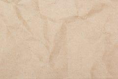褐色被弄皱的纸纹理 免版税库存图片