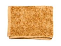 褐色被折叠的轻的毛巾 库存照片