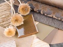 褐色设计土质内部计划 免版税库存图片