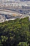 褐色转换开放的煤矿开采 免版税库存图片