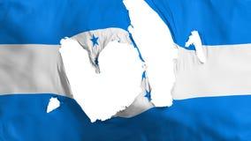 褴褛洪都拉斯旗子 皇族释放例证