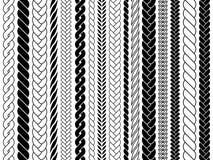 褶和辫子样式刷子 编织,结辨的绳索导航被隔绝的收藏 库存例证