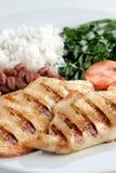 巴西、米和豆典型的盘  免版税库存图片