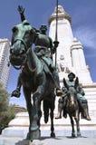 西万提斯的纪念碑在马德里,西班牙 免版税图库摄影