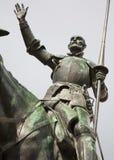 从西万提斯纪念品的马德里-唐吉诃德雕象 免版税库存照片