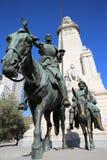 西万提斯纪念碑。 马德里 库存照片