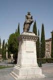 西万提斯纪念碑 库存照片