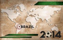 巴西世界杯墙纸 免版税图库摄影