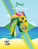 巴西世界杯 皇族释放例证