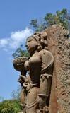 西中央邦石艺术  免版税库存图片