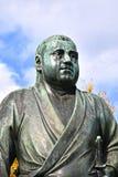 西乡隆盛雕象在上野公园,东京 库存图片
