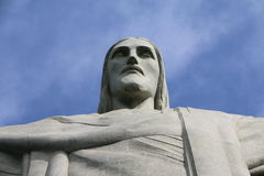 巴西人基督雕象里约热内卢巴西 免版税库存图片