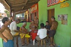 巴西人民,打在他们的家前面的比赛 库存图片