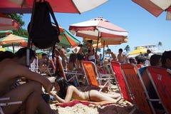 巴西人波尔图da巴拉岛海滩萨尔瓦多巴伊亚巴西 免版税库存图片