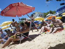 巴西人波尔图da巴拉岛海滩萨尔瓦多巴伊亚巴西 图库摄影