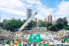 巴西人群 免版税库存图片
