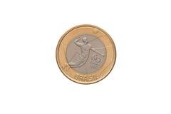 巴西人1真正的硬币 库存图片