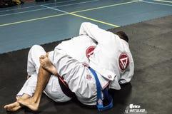 巴西人Jiu Jitsu 库存图片