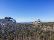 西伯利亚人露天场所和森林 图库摄影