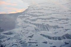 西伯利亚冰山熔化 免版税图库摄影