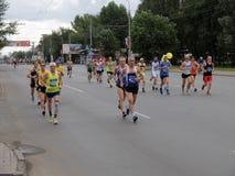 西伯利亚国际马拉松 免版税库存图片