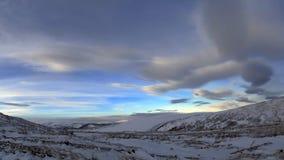 西伯利亚天空 免版税库存图片