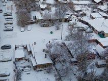 西伯利亚村庄 免版税库存图片