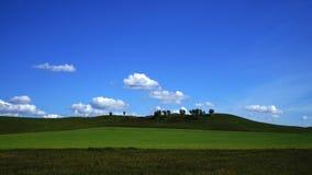 西伯利亚的干草原风景 图库摄影