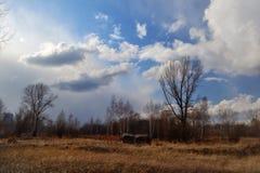 西伯利亚的春天天空 免版税库存照片